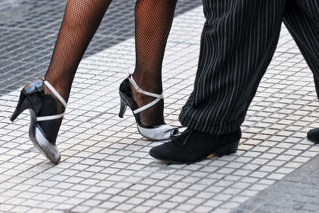 argentina: Feet of a couple dancing Tango in Buenos Aires.