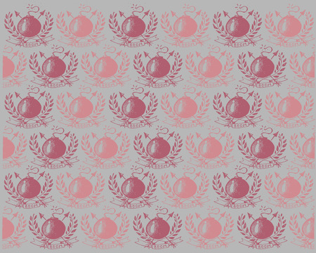 explotion: hand drawn vector illustration pattern or background of a retro old school tattoo style of some bombs Illustration