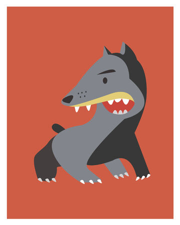 angry dog: hand drawn vector illustration or drawing of an angry dog