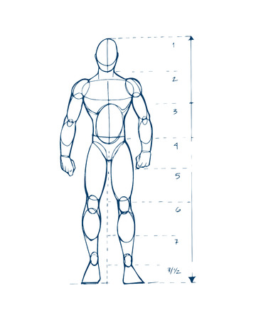 how to: Hand drawn vector illustration or drawing of a human figure sketch