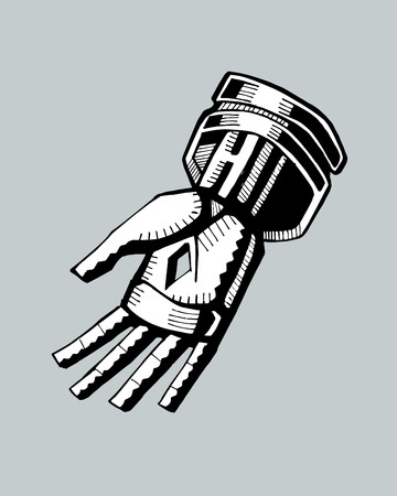 Hand drawn vector illustration or drawing of Christ?s hand