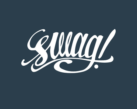 swag: Hand drawn illustration or drawing of the handwritten word: Swag Illustration