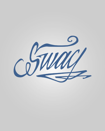 swag: Hand drawn vector illustration or drawing of the word: Swag, in a handwritten style Illustration