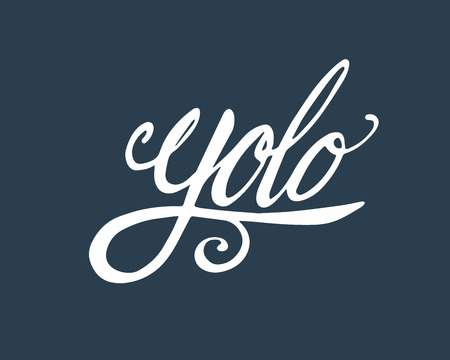 Hand drawn vector illustration or drawing of the word: Yolo