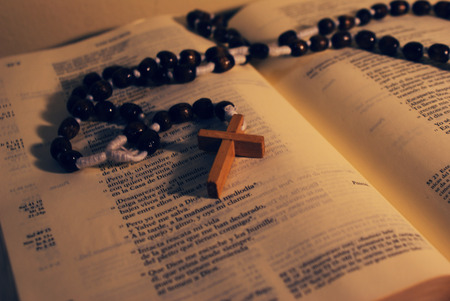 book of revelation: Rosary and Holy Bible