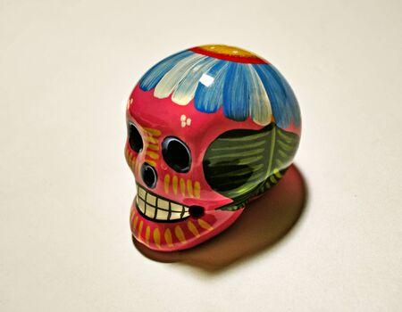 Photograph of a skull, representing dead?s day (dia de muertos) latin american celebration Stok Fotoğraf - 37340974