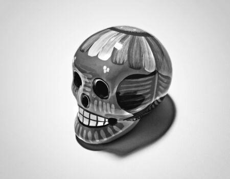 Photograph of a skull, representing dead?s day (dia de muertos) latin american celebration Stok Fotoğraf - 37340976