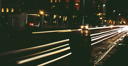 Photograph of some car lights in the night Stock fotó - 38080568