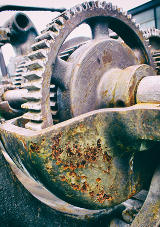 Foto van een oude machine