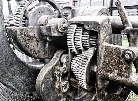 Photograph of an old machine