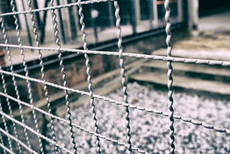 metal wire: Photograph of a metal wire fence