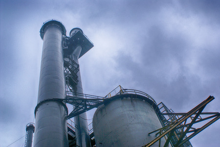 Photograph of an industrial structure
