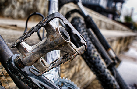 自転車のペダルの写真 写真素材