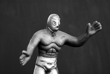 Photograph of a toy mexican wrestler
