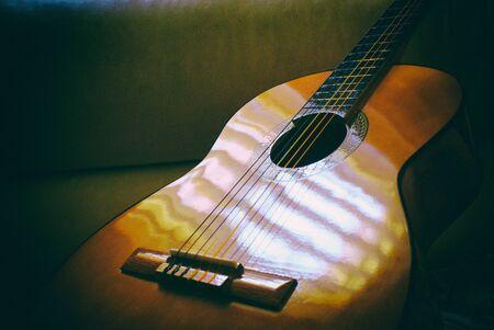 gitara: Zdjęcie z gitara akustyczna