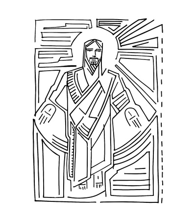 jesus hands: Jesus Resurrection Illustration