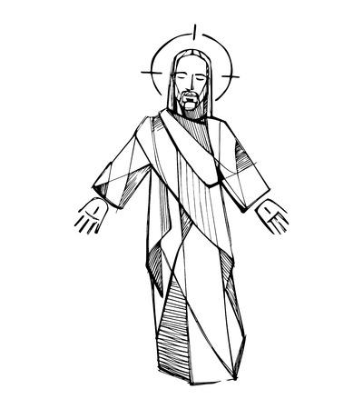 resurrection: Jesus Resurrection Illustration