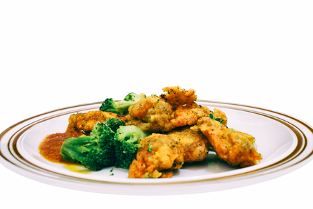 brocolli: Chicken wings and brocolli