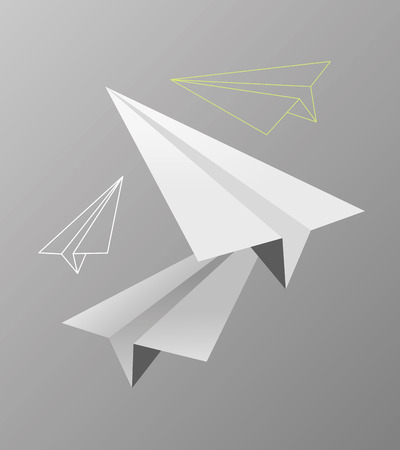 Vector illustration or drawing of some origami paper planes 版權商用圖片 - 40788115
