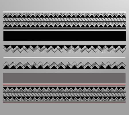 maories: Vector ilustraci�n o dibujo de un patr�n maor� forrada geom�trica