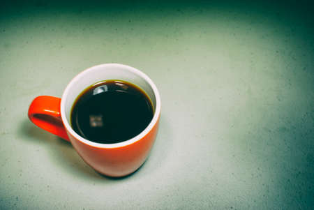 Photograph of red cup of coffee Stok Fotoğraf