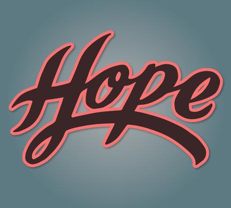 Hand drawn vector illustration or drawing of the handwritten word: Hope Zdjęcie Seryjne - 44301809