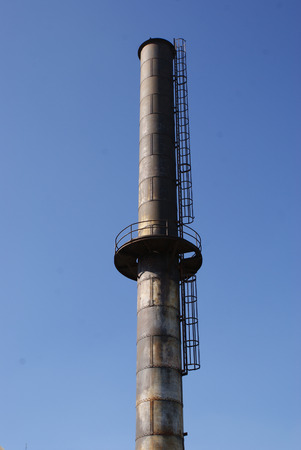 structure: Photograph of an industrial metal structure
