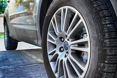 Photograph of car rubber tire or wheel
