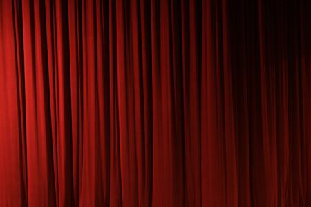 Foto van een rode theater gordijn Stockfoto