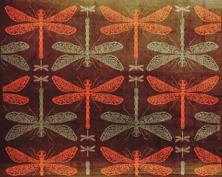 dragonflies: Illustration of a dragonflies pattern design