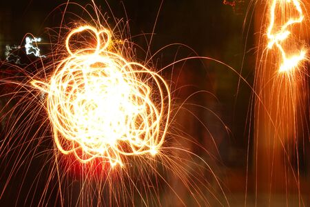 Photograph of an abstract effect of a flare light