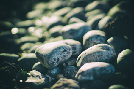 smooth: Photograph of some river gray smooth stones Stock Photo