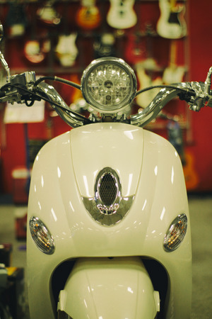 Photograph of a scooter motorcycle Stock fotó