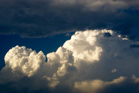 stratus: Photograph of a blue cloudy sky and sunlight