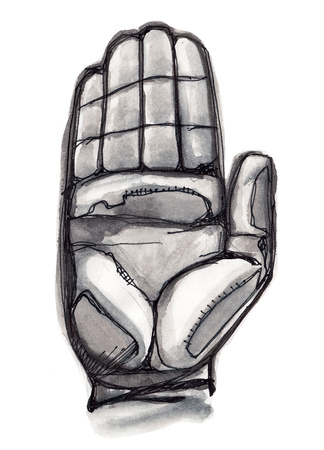 Hand drawn illustration or drawing of a human hand