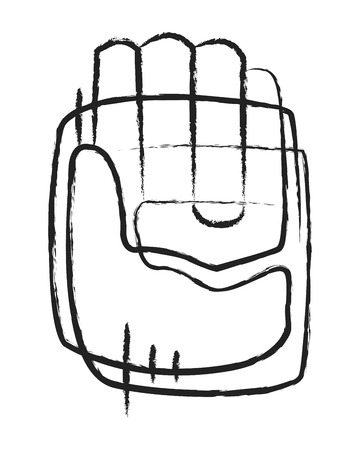Hand drawn illustration or drawing of an abstract human hand