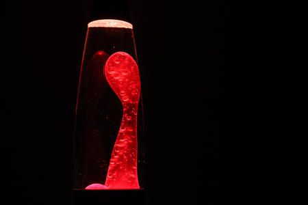 Photograph of a retro red lava lamp Sajtókép
