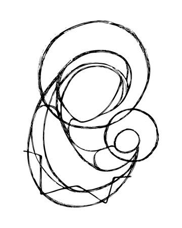 Hand drawn illustration vectorielle ou le dessin de la Vierge Marie et l'Enfant Jésus dans un style minimaliste