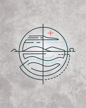 Hand drawn illustration or drawing of a contemporary religious symbol