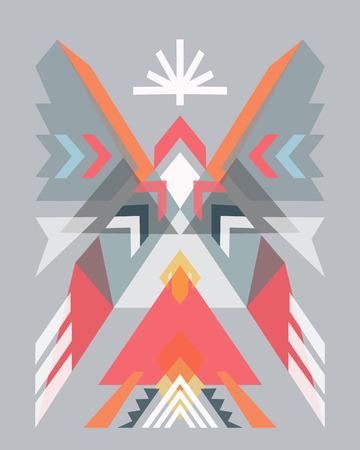 Vector illustration or drawing of an abstract  indian design Ilustração