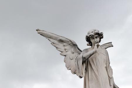 Photograph of an angel monochrome statue Stok Fotoğraf