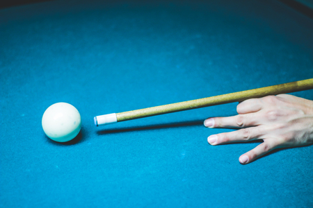 Photograph of some billiards plastic balls on table Banque d'images