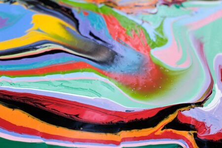 color photographs: Photograph of a colorful paint abstract pattern Stock Photo