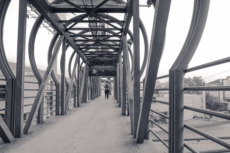 Photograph of a metal pedestrian bridge Sajtókép