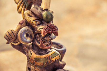 Photograph of an aztec mexican warrior handicraft