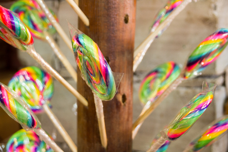 Photograph of some Mexican traditional lollipops Stok Fotoğraf - 81613798