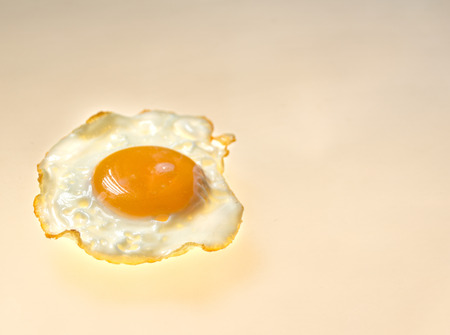 Photograph of a fried egg detail