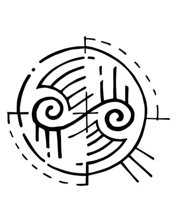 an abstract indigenous symbol