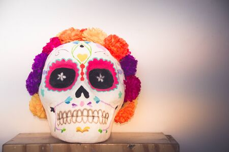 Photograph of a traditional mexican catrina handcraft Stok Fotoğraf