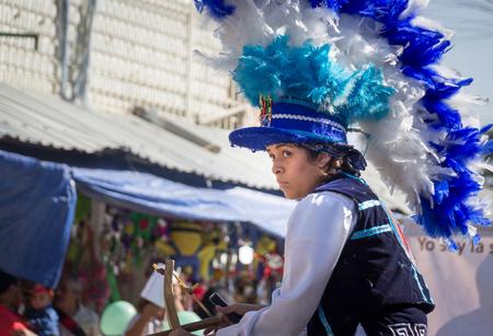 MONTERREY, NUEVO LEON  MEXICO - 18 12 2017: Mexican traditional matachin dancers in a peregrination to the Basilica of Guadalupe